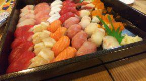 クリスマスディナーはお寿司で乾杯