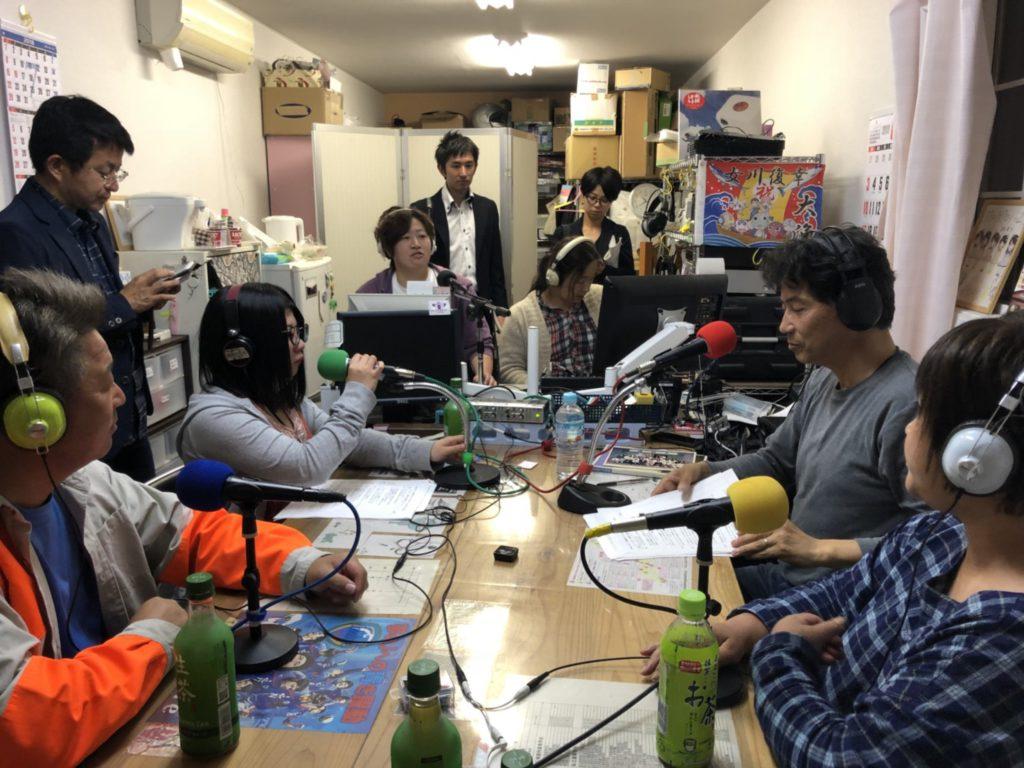 女川の情報発信メディア「女川FM」の収録へ!