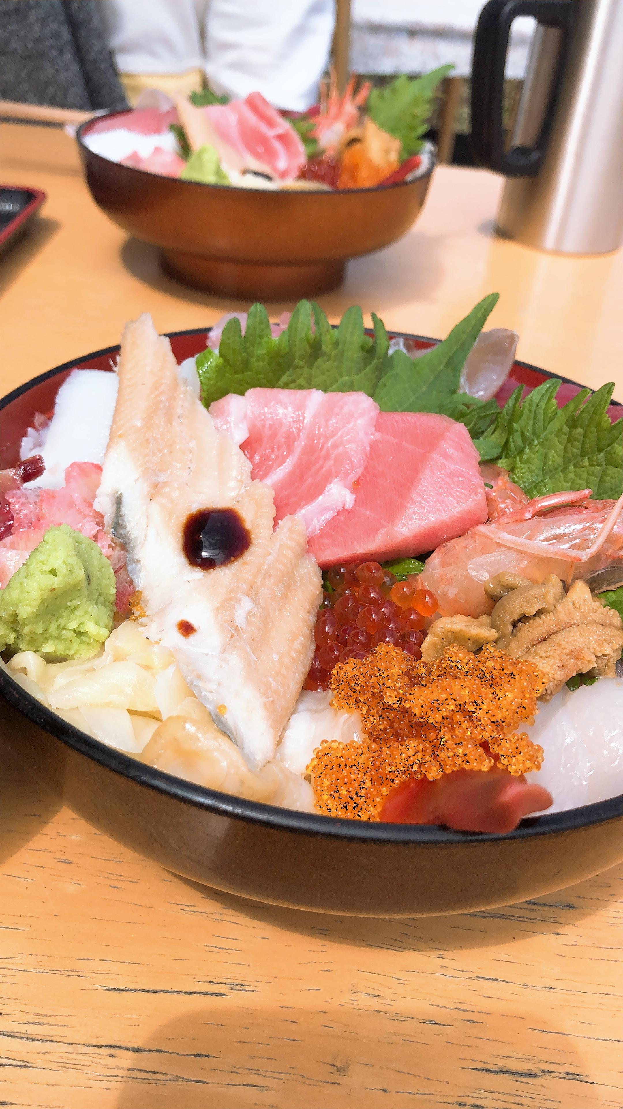 海鮮丼とステキな景色〜